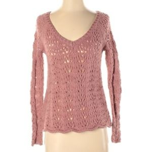 American Eagle pink cozy chunky sweater